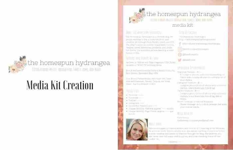 Homespun Hydrangea Media Kit